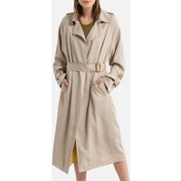 Long Draping Trench Coat