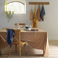 LONIE Printed Washed Linen and Cotton Tablecloth