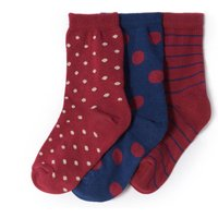 Pack of 3 Pairs of Patterned Socks 3-12 Years