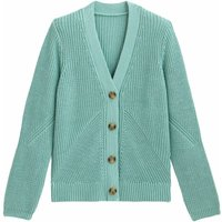 Cotton Chunky Knit Cardigan with V-Neck