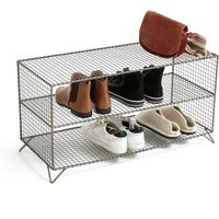 Low Metal Wire Shelf Unit