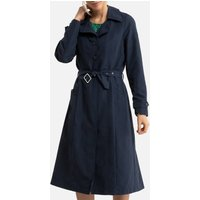 Mid-Season Trench Coat with Button Fastening