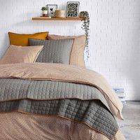 Duo Contrast Trim Cotton Percale Flat Sheet