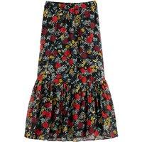 Ruffled Maxi Skirt in Floral Print