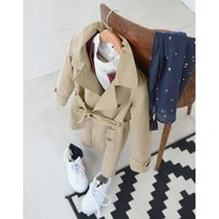 Cotton Trench Coat, 3-12 Years
