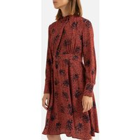 shop for Graphic Print Mini Dress with High-Neck at Shopo