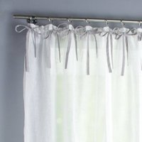Meriza Linen-Effect Single Voile Panel with Gathered Header