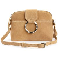 Suede Bag with Metal Ring
