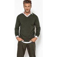 Nero;verde kaki;grigio chiné;Marine chiné uomo Pull PIERRE scollo a V 100% cotone