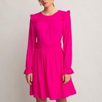 shop for Ruffled Mini Dress with Long Sleeves at Shopo