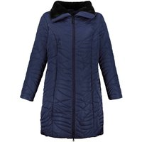 Mid-Length Padded Coat with Faux Fur Lining