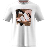 Cotton Short Sleeve T-Shirt with Large Camo Logo Print