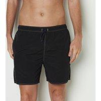 Plain Crinkle Look Swim Shorts