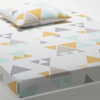 Hilora Geometric Print Cotton Fitted Sheet