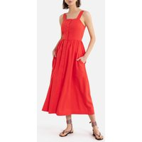 Sleeveless Bustier Maxi Dress with Buttons