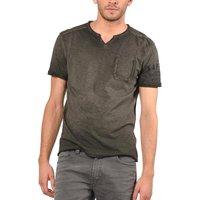 Plain Short-Sleeved V-Neck T-Shirt