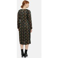 shop for Printed Midi Dress with Long Sleeves at Shopo