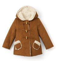 Sheepskin Hooded Coat, 1 Month - 3 Years