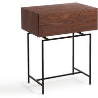 Oreko Walnut Bedside Table
