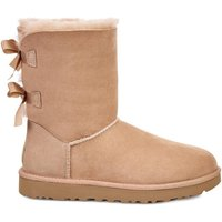 Bailey Bow II Suede Ankle Boots with Faux Fur Lining and Bows