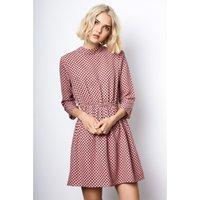 Polka Dot Print Skater Dress