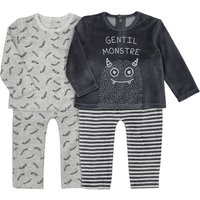 Pack of 2 Pairs of Velour Pyjamas, Birth-3 Years