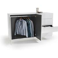 High Gloss 2-Door Low Level Wardrobe