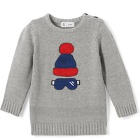 Long-Sleeved Intarsia Jumper, 1 Mth-3 Years