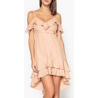 Ruffle Dress with Shoestring Straps