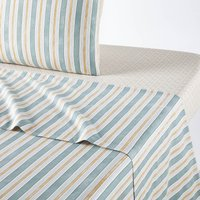 Gentiane Flat Sheet in Washed Cotton