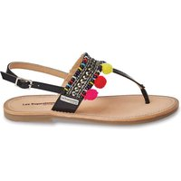 Leather Sandals with Embellishments