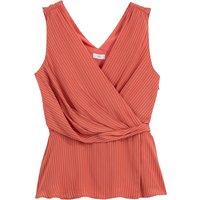 shop for Wrapover V-Neck Sleeveless Blouse at Shopo