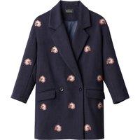 Embroidered Boyfriend Coat