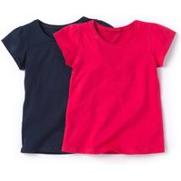 Pack of 2 Girl's Cotton T-Shirts, 18 Mths-12 Years