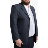 Long Straight Cut Suit Jacket with Single-Breasted Buttons