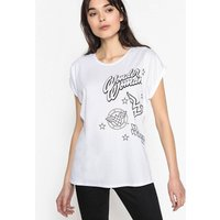 Short-Sleeved Printed Crew Neck T-Shirt
