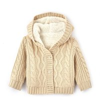 Cable Knit Hooded Cardigan, 1 Mth-3 Years