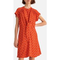 shop for Floral Print Draping Tie-Front Dress at Shopo