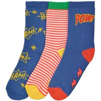 Pack of 3 Pairs of Socks, Sizes 15/16-23/26