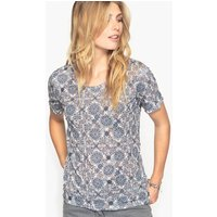 Printed Crinkled Jersey T-Shirt