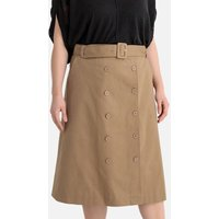 shop for Double Buttoned Midi Skirt with Belt at Shopo