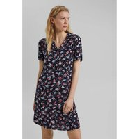 Graphic Print Mini Dress with V-Neck and Short Sleeves