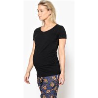 Maternity T-Shirt with Pleated Waist Detail