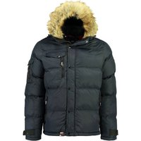 Bonap Warm Padded Jacket with Faux Fur Hood and Pockets
