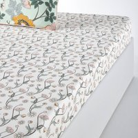 Marthe Fitted Sheet in Cotton Percale