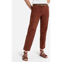 Suede Straight Trousers.