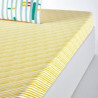 Primero Fitted Sheet in Two-Tone Striped Cotton