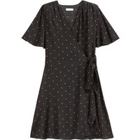 shop for Wrapover Mini Dress in Polka Dot with Short Sleeves at Shopo