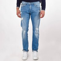 Broz Straight Ripped Jeans, Length 34