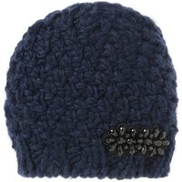 Knitted Hat with Beadwork